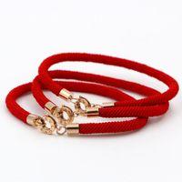 ingrosso fascini del nome del braccialetto-Alta qualità 316L acciaio inossidabile di titanio BV LOVE rotonda Chiusura Bracciale corda rossa per donne e uomini Gioielli di moda braccialetto di fascino di marca
