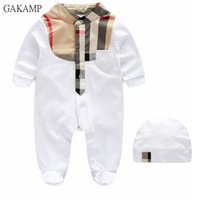Wholesale Presents Baby - Very First Christmas Present Kid Clothing hat Romper Long Sleeve Spring and Autumn Baby Boy Girl 0- December