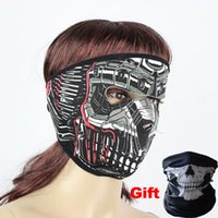 Wholesale Ghosts Children - Halloween Designed Ghost Party Face Mask Skull Masks Outdoor Hat Cycling Bike Motorcycle Ski Skiing Windproof Costume Neoprene Face Mask NEW