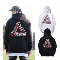 Wholesale Fleece Prints - Lovers Men's Triangle Printed Hoodies PALACE Sweatshirts Causal Hip Hop Cool Brand Designer Men Jesus Angel Cotton Hoodie Shirts