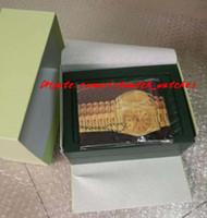 yeni hediye kağıdı toptan satış-Ücretsiz kargo Yeni Lüks Mens Ro lex Kutusu İsviçre Orijinal Marka Yeşil Kutuları Kağıtları Adamlar Kadınlar Için Kitapçık Kart Hediye ...