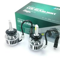 Wholesale Yellow Headlights - 33W H7 CREE LED Headlight Headlamp Auto Conversion Car LED Kit 3000LM DRL Lamp Bulb Light H8 H9 H11 HB3 HB4 9005 9006 WHITE yellow