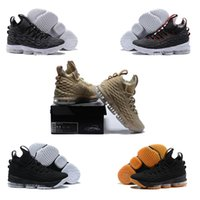Wholesale Ash Canvas Sneakers - 2017 NEW Lebron LBJ 15 XV Ghost Ashes Men Basketball Shoes casual Shoes Mens Running Trainer Shoe High Quality James 15 Sneakers