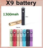 Wholesale Ego Upgrade Variable Voltage - X9 Battery 1300mah Ecigator X6 Upgraded 3.3-4.1V Variable Voltage Compatible the 510 or Ego thread Atomizer protank 2 3 ego battery DC035