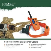 Wholesale Dog Beeper Training - 2015 New Hunter Beeper Collar 500M Remote Dog Training Collar Waterproof And Rechargeable Electric Collar DHL free