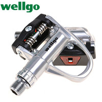 """Wholesale Bicycle Clipless Pedals - 2014 WELLGO XRF-5 Road Force Bike Bicycle Aluminum 9 16"""" CR-MO Spindle Sealed Bearing Clipless Lightweight Compact Design Pedals"""