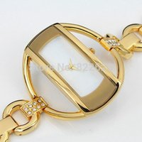 Wholesale clock chain bracelet for sale - Group buy 2019 Hot sale rhinestone women dress watch Steel Bracelet Chain Luxury watches fashion Gold Quartz watch Ladies hour clock relogio feminino