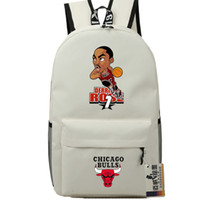 Wholesale Basketball Dribbling - Dribble player backpack Derrick Rose daypack Basketball star schoolbag Cartoon rucksack Sport school bag Outdoor day pack