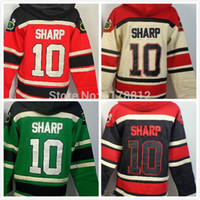 Wholesale China Sweatshirts - 2016 New, winter classic jersey Hoodies #10 Patrick Sharp Stitched Authentic Men's Hockey Sweatshirts drop shipping From China
