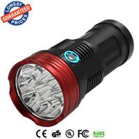Wholesale cree skyray led - Alonefire HF9-1 lanterna LED SKYRAY 15000 Lumen 9T6 9x CREE XML LED lanterna tactics Hunting Work Lamp