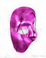 Wholesale Right Face Mask - half face mask Phantom of the Opera - right half of the face cloth Party mask free shipping