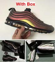 ingrosso scarpe da corsa spediti velocemente-97 Skepta Marrakesh 97 OG UNDFTD NERO VELOCITÀ ROSSO DS Scarpe da corsa di alta qualità con scatola da uomo Spedizione veloce da EMS