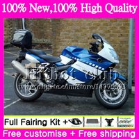 Bodys For BMW K1200S 05 06 07 08 09 10 Blu bianco K1200 S 05-10 12HT4 K-1200S K 1200S 2005 2006 2007 2008 2009 Kit carenatura moto