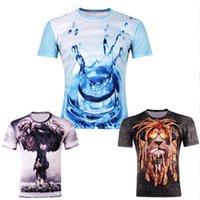 Wholesale Moustache Flag - New Summer 2015 Fashion Women Men Skull Moustache Triangle Tupac hip hop flag Print 3D T Shirt Camisetas Casual Tee Shirts Tops