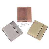 Wholesale Magnetic Clasps Bulk - Free shipping!!!Fashion jewellry in Bulk Rectangle plated brushed more colors for choice Zinc Alloy magnetic magnetite Clasp