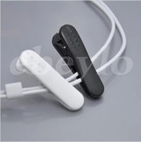 Universal black cable tidy - 2016 Hot Sell Earphone Headphone Cable Clip Clamp Cable Tidy Clamp Cloth White Black for iPhone