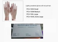 Wholesale Glove Disposable Powder Gloves - Disposable PVC Hand Gloves For Salon Beauty Hair Color White light Powder Black 20boxes per Lot DHL Free Shipment