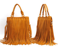 Women black fringe purse - 2015 High Quality Fringe Convertible Crossbody bag Fold Over Fringe Tote cross body purses Free Fipping