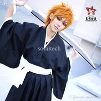 Wholesale Bleach Cosplay Soul Reaper - Wholesale-Cartoon Anime Bleach Cosplay Costume- Bleach Soul Reaper Captain Unisex Costumes for Halloween party,Dropshipping