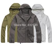Wholesale Gore Tex Clothing - Wholesale-2014 New Arrive Brand XS-XXXL Women Men Ultra-light Outdoor Sport Waterproof Jacket Quick-dry Clothes Skinsuit Plus Size Outwear