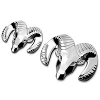 Dodge Sliver Ram Head 3D Metal Chrome Car Carling Emblem Badge 3D Reposición Chrome Car Ram Pegatinas Calcomanías Logo Decoraciones # 1560