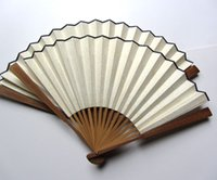 "Wholesale Rice Crafts - Vintage Blank White Folding Hand Fans Chinese Rice Paper Crafts Gift Calligraphy 7-12"" DIY Fine Art Hand Painting Programs Bamboo joint Fan"