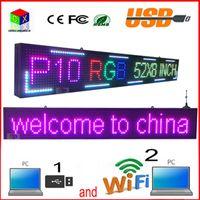 ingrosso led edit-52 '' x8 '' INCH 1/4 scan RGB P10 LED a colori a colori SEGNALE Supporto USB computer WiFi edit per pubblicità Media display a LED per esterni