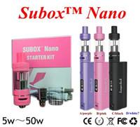Wholesale Shipping Starter Kit - High quality Kanger Subox Nano Starter Kit with 3ML Subtank Nano Atomizer 50W Kbox nano design from subox mini kit free ship DHL