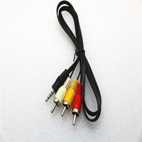 1M 3FT 3.5mm Jack a 3 RCA Adaptador Cable Audio Video AV Adaptador de Audio Cable DC