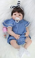 ingrosso bambola reale piena-NPKCOLLECTION 55 centimetri corpo del silicone pieno Doll Toy Reborn Baby Ti piace reale 22inch ragazza appena nata principessa bambini Doll Bagno Accessori giocattoli del capretto del regalo