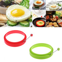 Wholesale Egg Shape Fried - New Silicone Omelette Mould Fried Egg Pancake Ring Fried Egg Round shape Egg Mold Cooking Mould Breakfast Essential