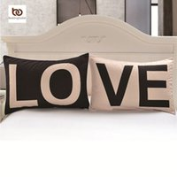 almohadas de san valentin al por mayor-Promoción Love Together Pillowcase Regalos de Año Nuevo Fundas decorativas 20inchx30inch Body Pillow Case Home Bedding Valentine's Gift