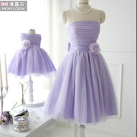Wholesale Girls Purple Tutu Set - Mother Daughter Clothes Dresses Wedding Princess Tutus Matching Mon and Girl Dress Flower girl dresses Party Wedding Dresses
