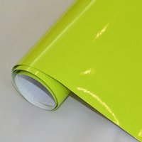 Wholesale Wrapping Car Gloss Green - 1.52X2m(5x7FT) DIY Car wrap roll Gloss Car Wrap Vinyl yellow green for Vehicle full wraps free shipping