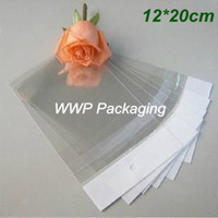 Wholesale Jewellery Clear Bags - 200Pcs  Lot 12cm*20cm Clear Plastic Self Adhesive Seal Packing Bags Retail OPP Poly Jewellery With Hang Hole Packaging Pouches