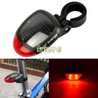 Wholesale Led Bike Rear Light Solar - New Design 2 LED Long Lighting Time Solar Power Bicycle Cycling Bike Tail Light Back Rear Lamp TK0269