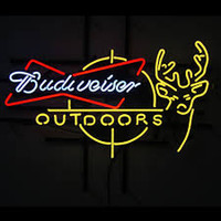 Wholesale Deer Neon Sign - New Budweiser Outdoors Deer Glass Neon Sign Light Beer Bar Pub Sign Arts Crafts Gifts Lighting 26""