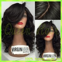 Wholesale Custom Wigs Human Hair - 7A Best Quality ombre T1b 99j Glueless Full Lace Human Hair Wigs Body Wave Ombre Lace Front Wig For Black Women Can be Custom