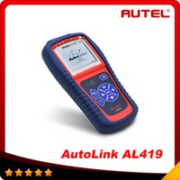 Wholesale Autel 419 - 100% Original Autel AutoLink AL419 OBD II and CAN Scan Tool Update Via Official Website al 419 High quality In stock DHL free shipping