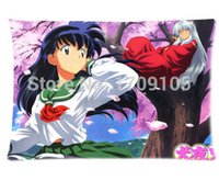 "Wholesale Anime Cases - Custom Your Photos Comfortable Pillowcase Anime Inuyasha And Cherry Pillow case Covers Standard Size 20""x30"" Inch"