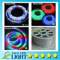 ingrosso illuminazione della striscia principale 25m-RGB Led Strip light 10 M 15 M 20 M 25 M 30 M 35 M 40 M 45 M 50 M 110 V 220 V SMD5050 Illuminazione Impermeabile + Telecomando IR + Alimentazione