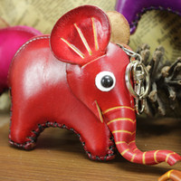 Wholesale Hand Made Leather Purses - Wholesale-New 2015 Fashion 3D Elephant Women Coin Purse hand-made genuine leather small wallets