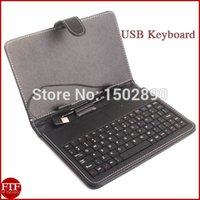 Atacado-Leather Keyboard Caso USB para 7 '' <b>Tablet PC MID EPAD</b> # 1