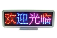 Wholesale Global Displays - Tri-color Rechargeable 300mm Global-language Programmable LED Scrolling Message Display Moving Sign Board LED shop screen 16x64 Dots