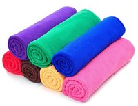 Wholesale auto hand cleaner - 5PCS Microfiber Car Auto Clean Wash Polish Towel Cloth (6 Colours)