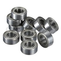 Wholesale Mini Ball Bearing Slides - 10pcs MR105 MR105ZZ Metal Sealed Shielded Miniature Mini Bearing Ball 5 x 10 x 4mm Free Shipping