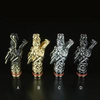 dragão de gotejamento venda por atacado-Elegante Metal Dragão Forma Drip Tips Bocais para e cigarro CE4 CE5 MT3 atomizador de vidro Protank mods eGo Atomizador