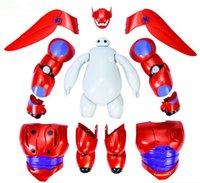 Wholesale 6 Inch Removable Armor Deformable Big Hero Deformable Robot Baymax Children Action Toy Figures
