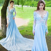 2017 Sexy Wedding Dresses Splits Deep V Neck See Through Appliques Легкие свадебные платья Fairyland Vintage Lace Chiffon Garden Wedding Dress
