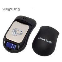 escamas de mouse venda por atacado-Profissional Mouse Digital Scale Safe com Stash Hide 200g x 0.01g Peso Escala de bolso com forma de mouse preto